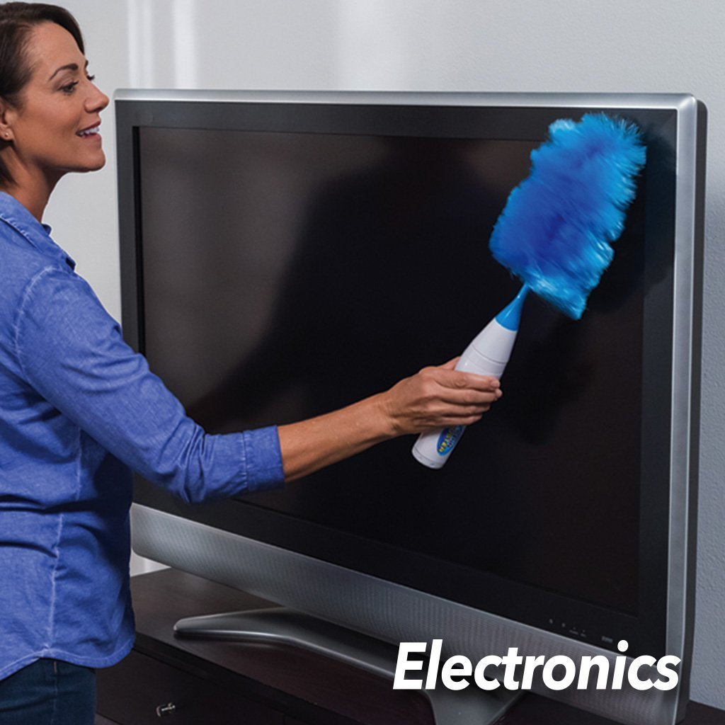 Hurricane Spin Duster and Spin Broom Special Offer, duster in use on tv