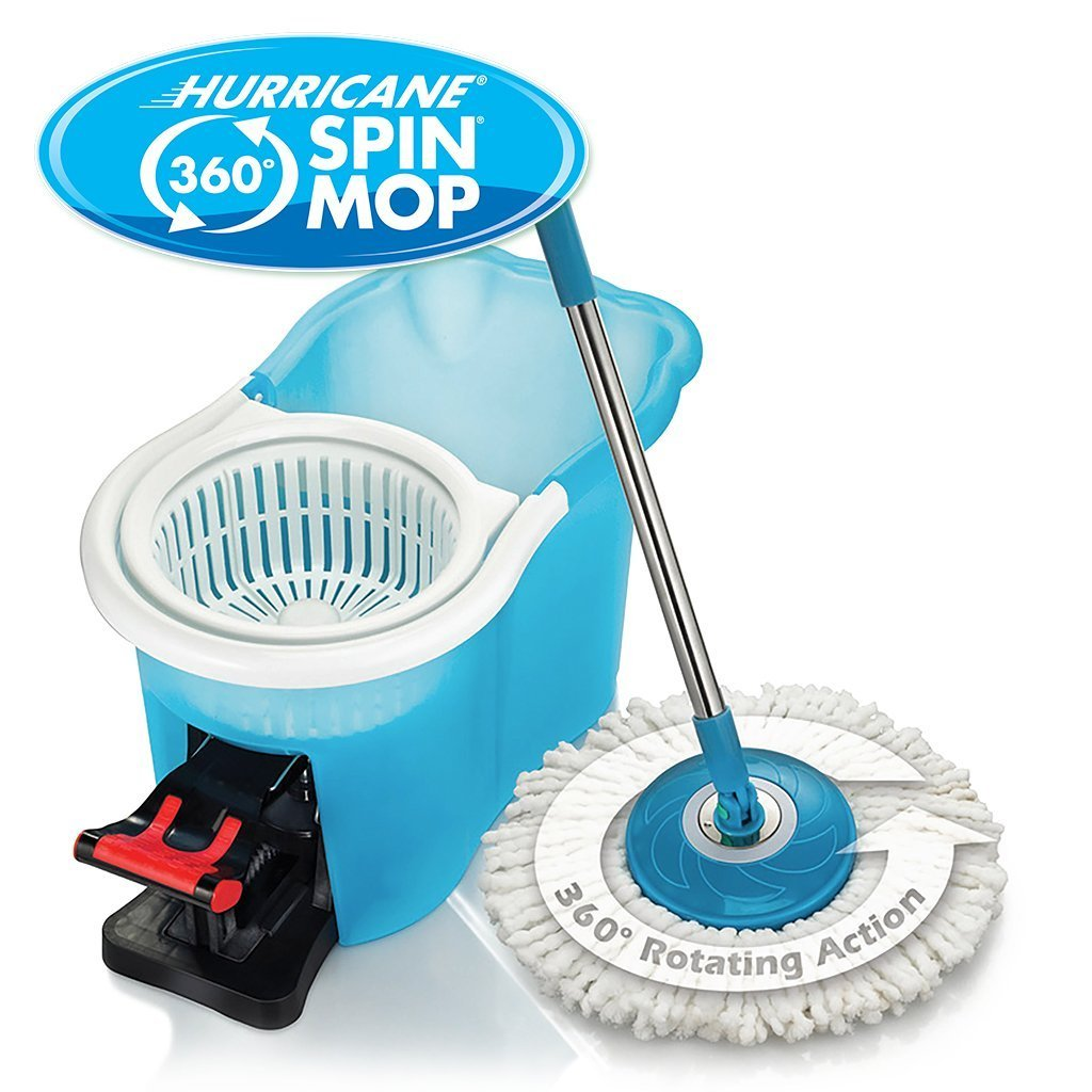 Hurricane Spin Mop silo with bucket and mop image from BulbHead
