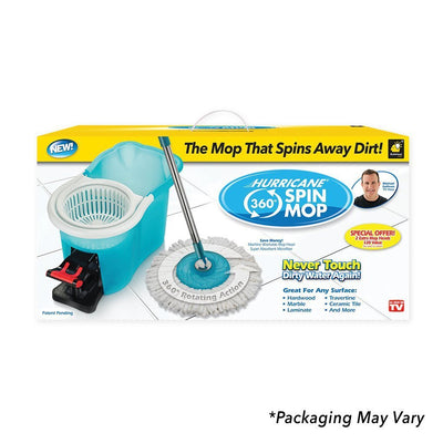 Hurricane Spin Mop silo packaging image from BulbHead