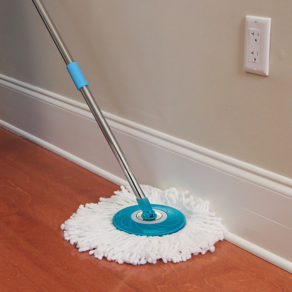 Hurricane Spin Mop in use on a wooden floor