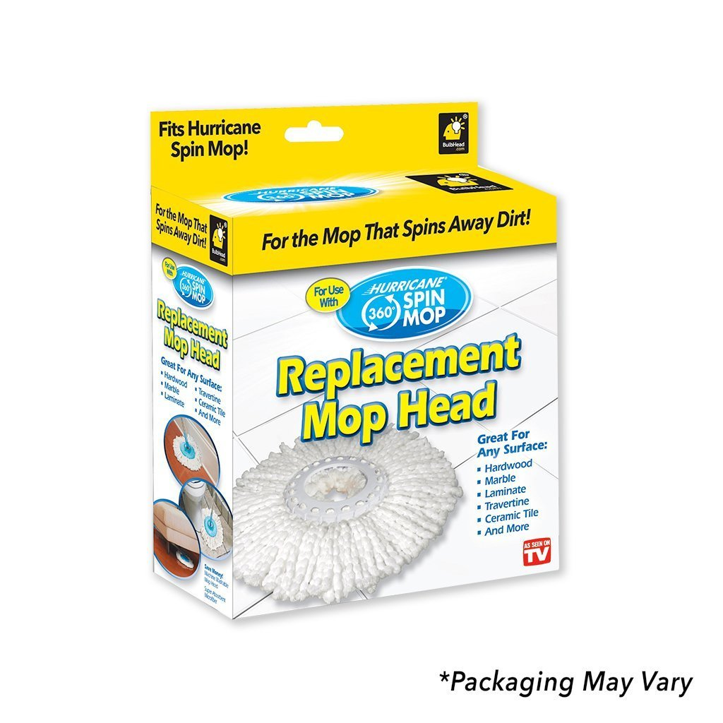 Hurricane Spin Mop Replacement Mop Heads packaging silo image from BulbHead