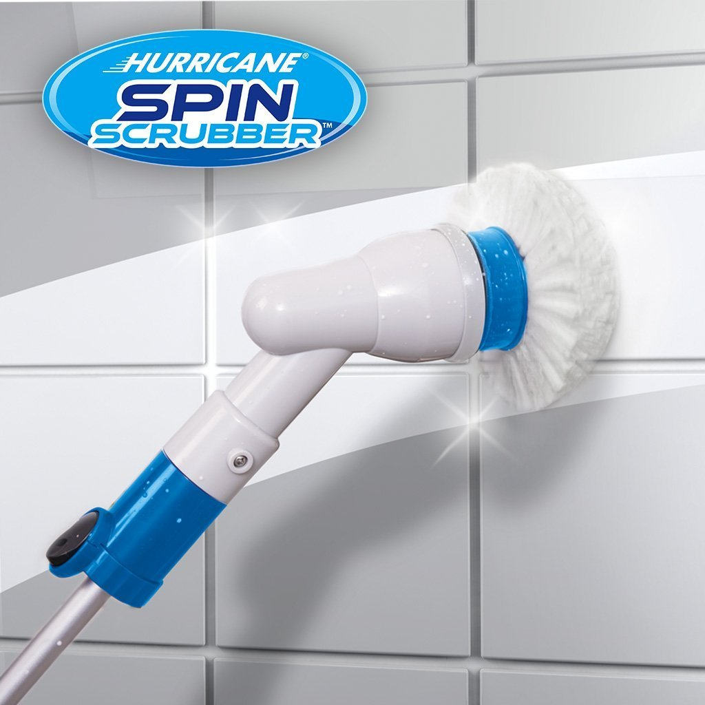 Hurricane Spin Scrubber The Original Scrubber Brush With The Power - Battery powered shower scrubber