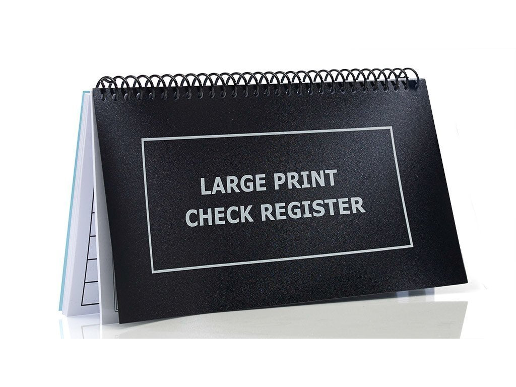 Large Print Check Register image from BulbHead