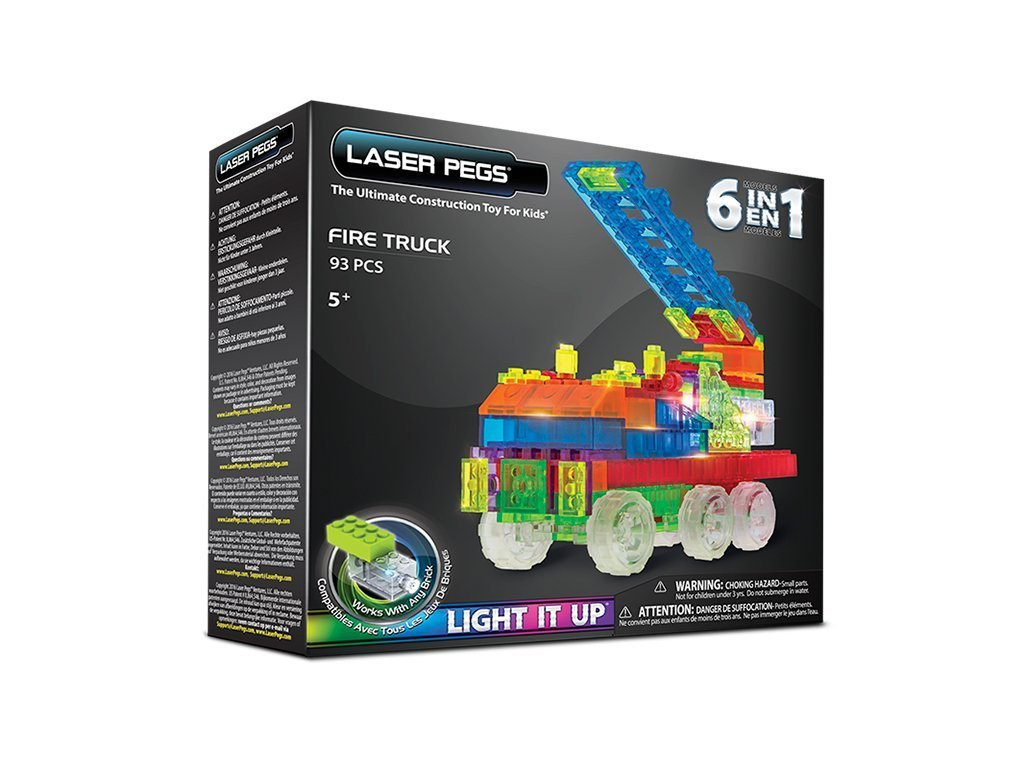 Laser Pegs Fire Truck Building Kit image from BulbHead