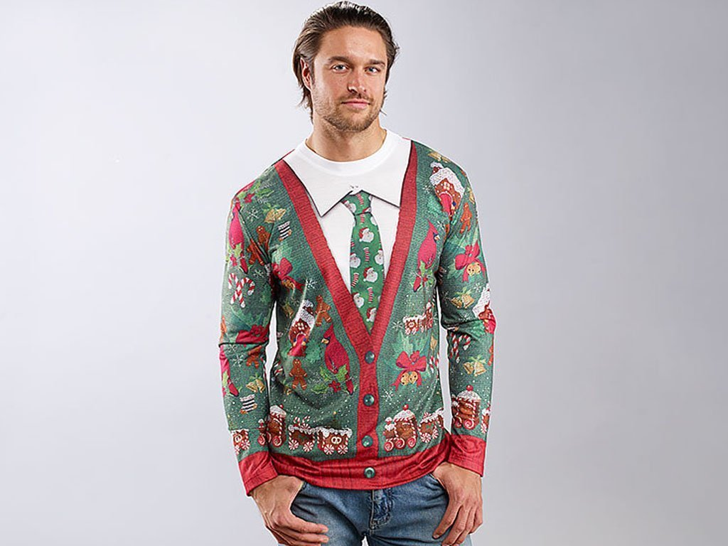 MED Mens Ugly Christmas Sweater T-Shirt image from BulbHead
