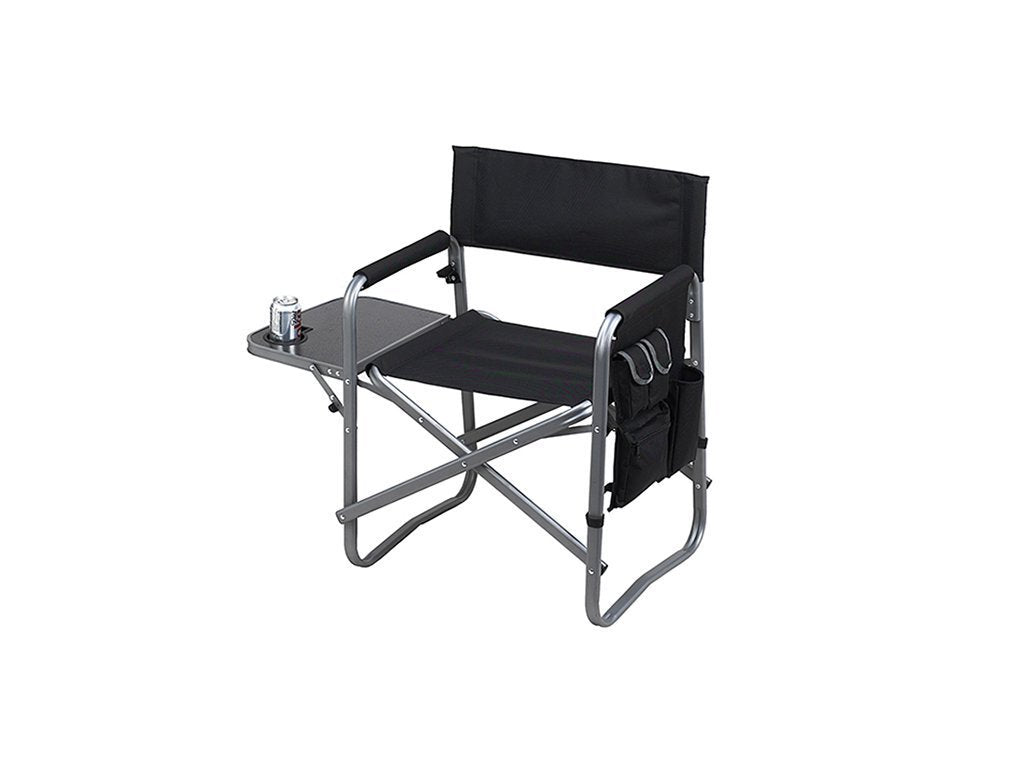 BLACK Picnic At Ascot Deluxe Sports Chair W/Table image from BulbHead