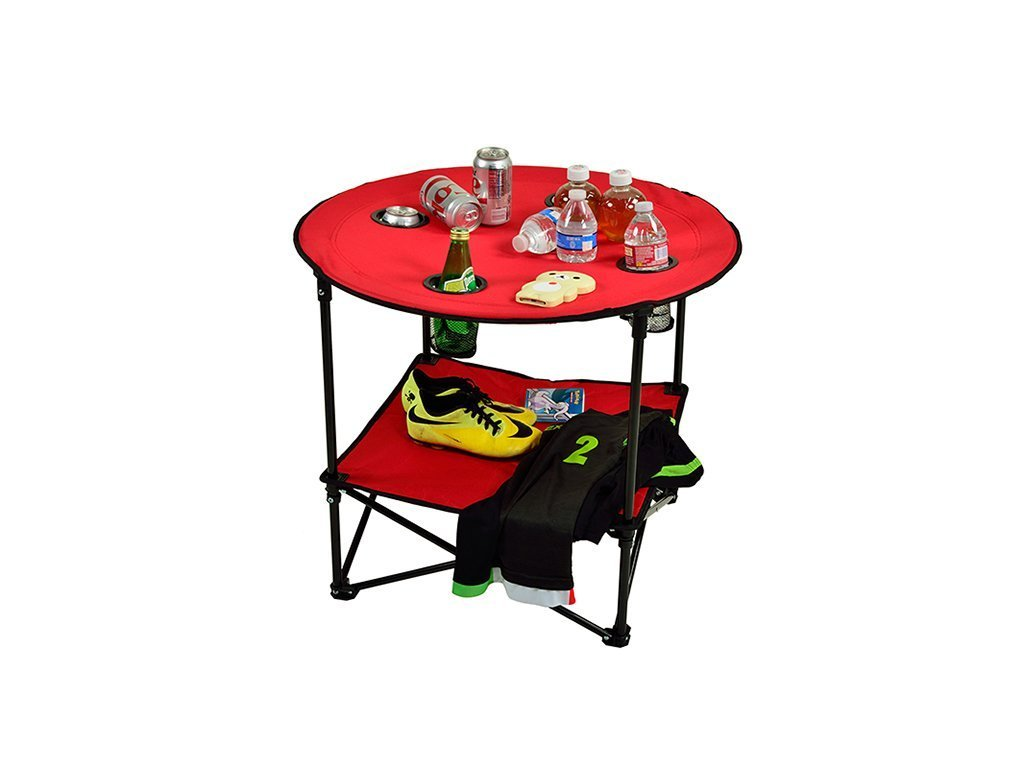 Picnic At Ascot Travel Folding Table - Red image from BulbHead