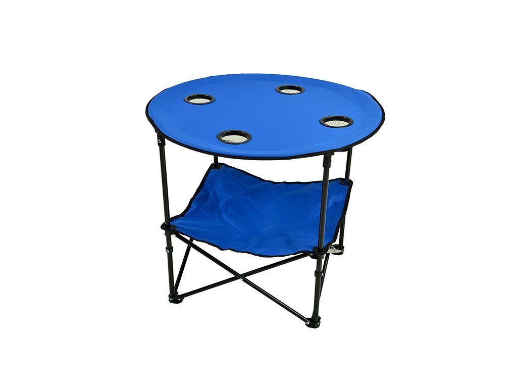 ROYAL BLUE Picnic At Ascot Travel Folding Table image from BulbHead