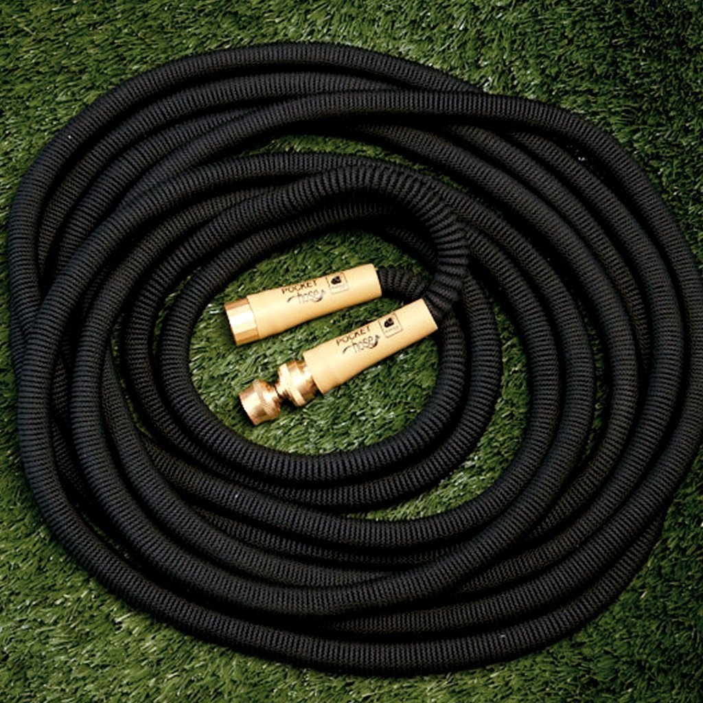 Pocket Hose Brass Bullet 2-Pack silo on a grass background