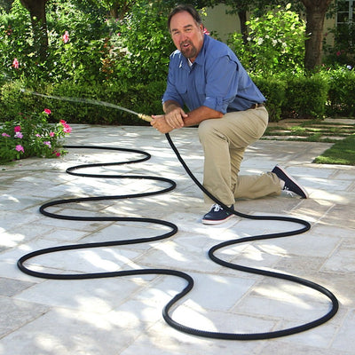 Pocket Hose Brass Bullet Richard Karn using brass bullet hose in a garden
