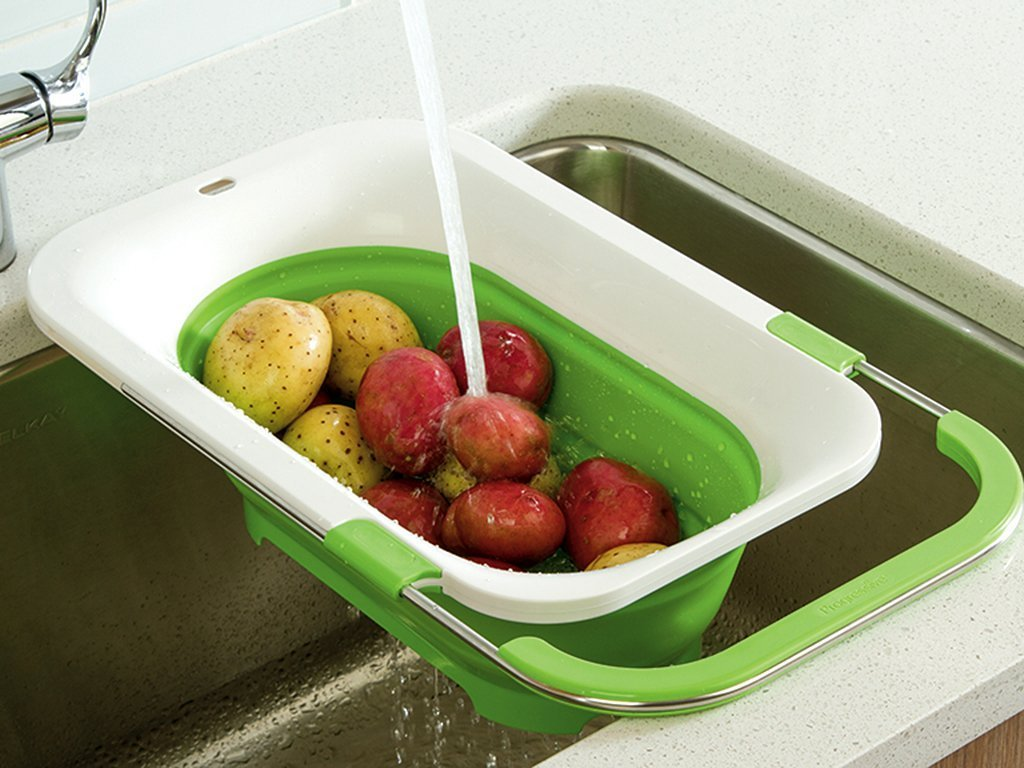 Progressive Collapsible Over The Sink Colander Image From BulbHead