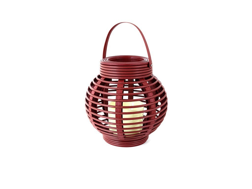 ANTIQUE RED Rattan Round Basket Candle image from BulbHead
