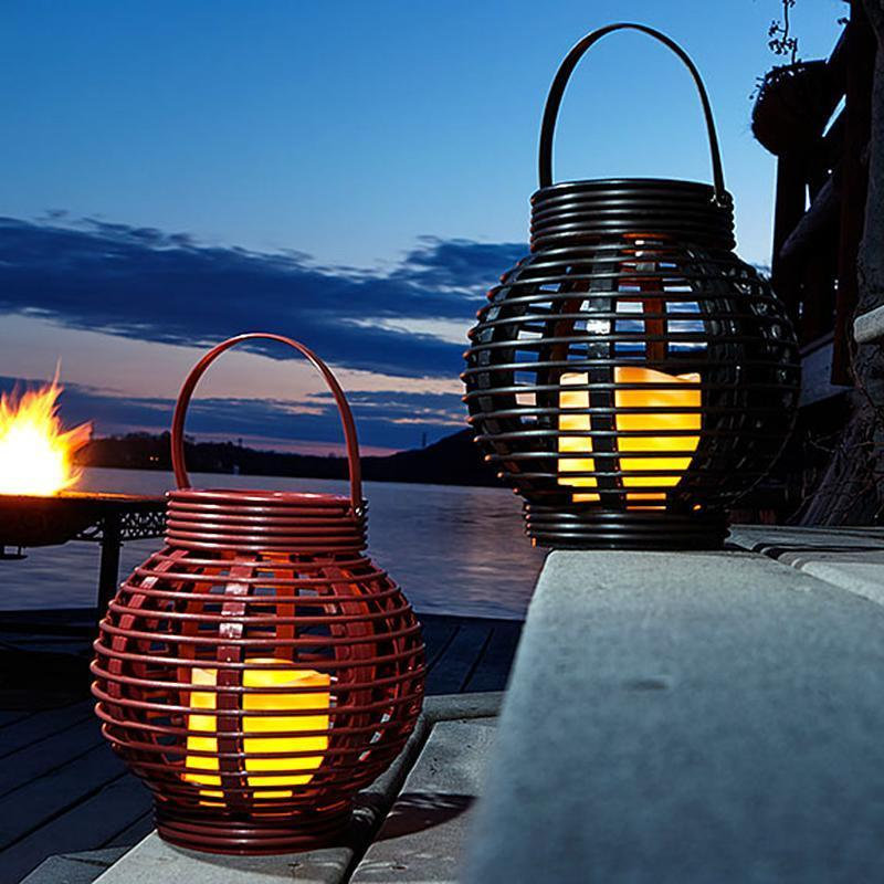 Rattan Round Basket Candle image from BulbHead