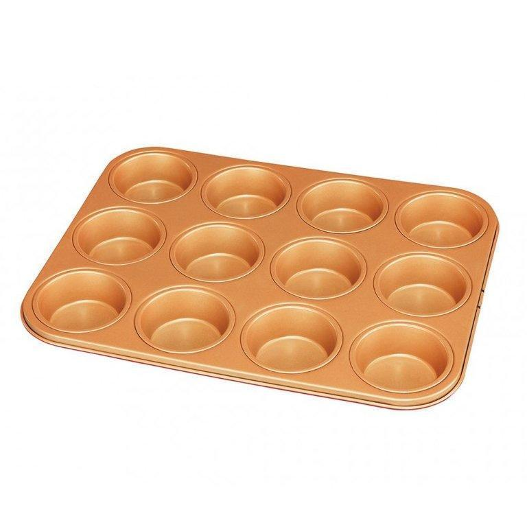 Red Copper 12 Muffin Pan image from BulbHead