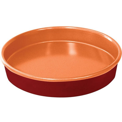 Red Copper 9.5 Inch Round Cake Pan image from BulbHead