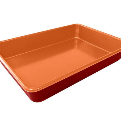 Red Copper 9 x 13 Inch Cake Pan image from BulbHead