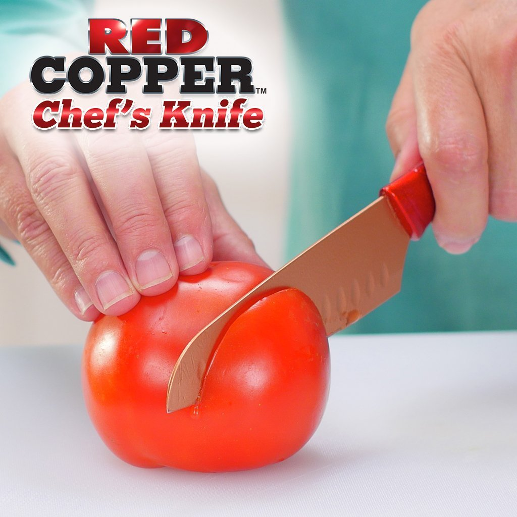 Red Copper Chef Knife image from BulbHead