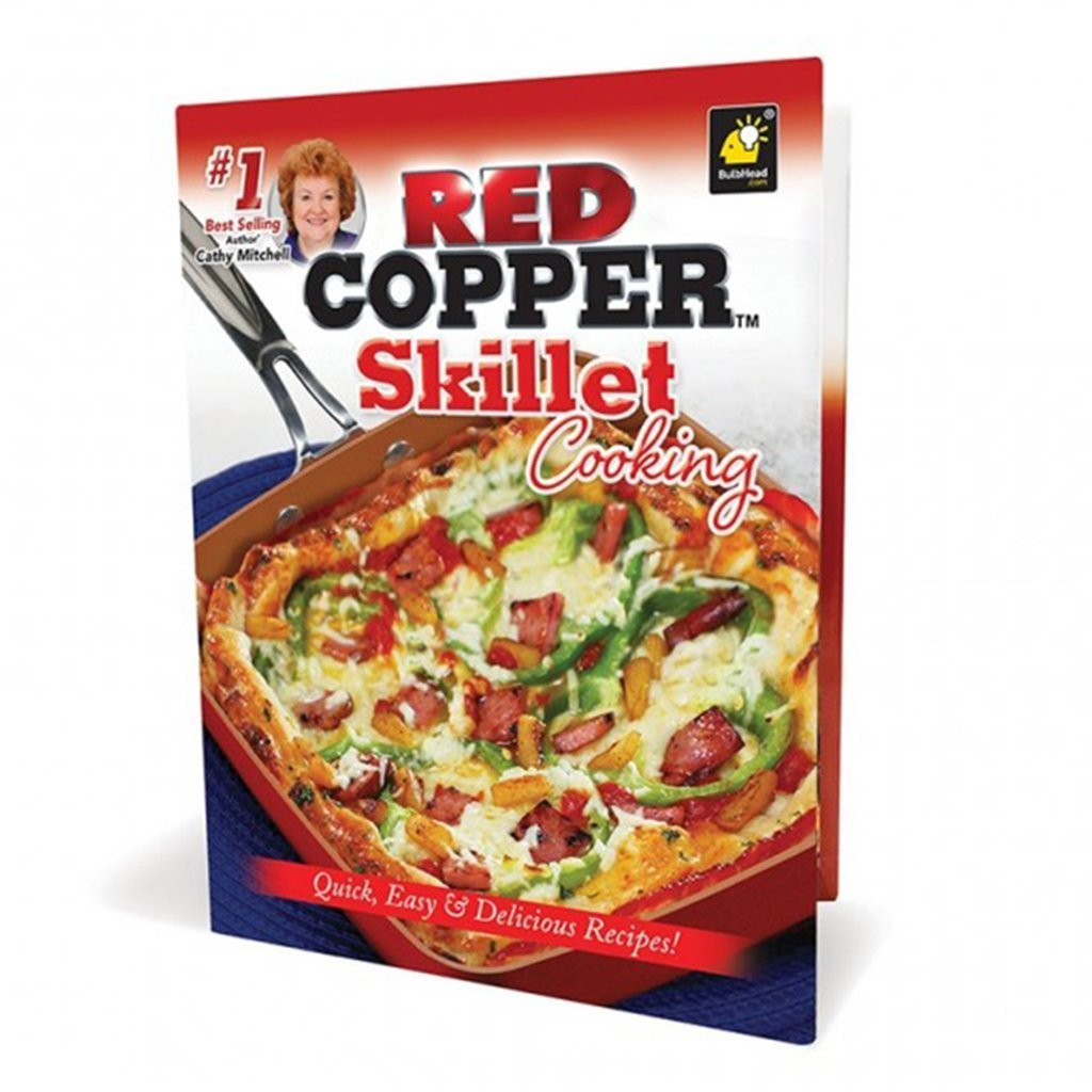 Red Copper Skillet Cooking Cookbook Bulbhead
