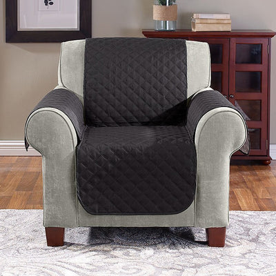 BLACK GREY Reversible Furniture Cover - Chair image from BulbHead