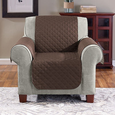 BROWN BEIGE1 Reversible Furniture Cover - Chair image from BulbHead