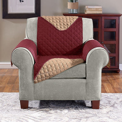 BURGUNDY TAN Reversible Furniture Cover - Chair image from BulbHead