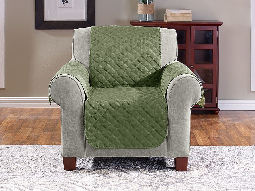 OLIVE SAGE Reversible Furniture Cover - Chair image from BulbHead