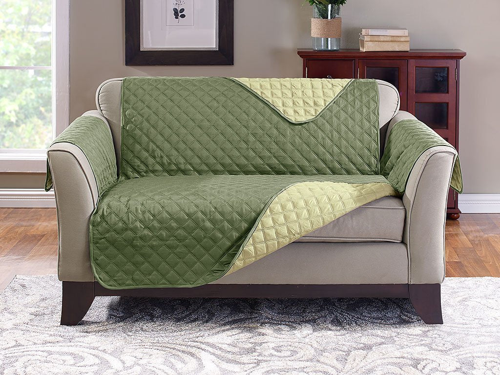 Amazing Reversible Loveseat Cover Protect From Pet Hair Spills Caraccident5 Cool Chair Designs And Ideas Caraccident5Info