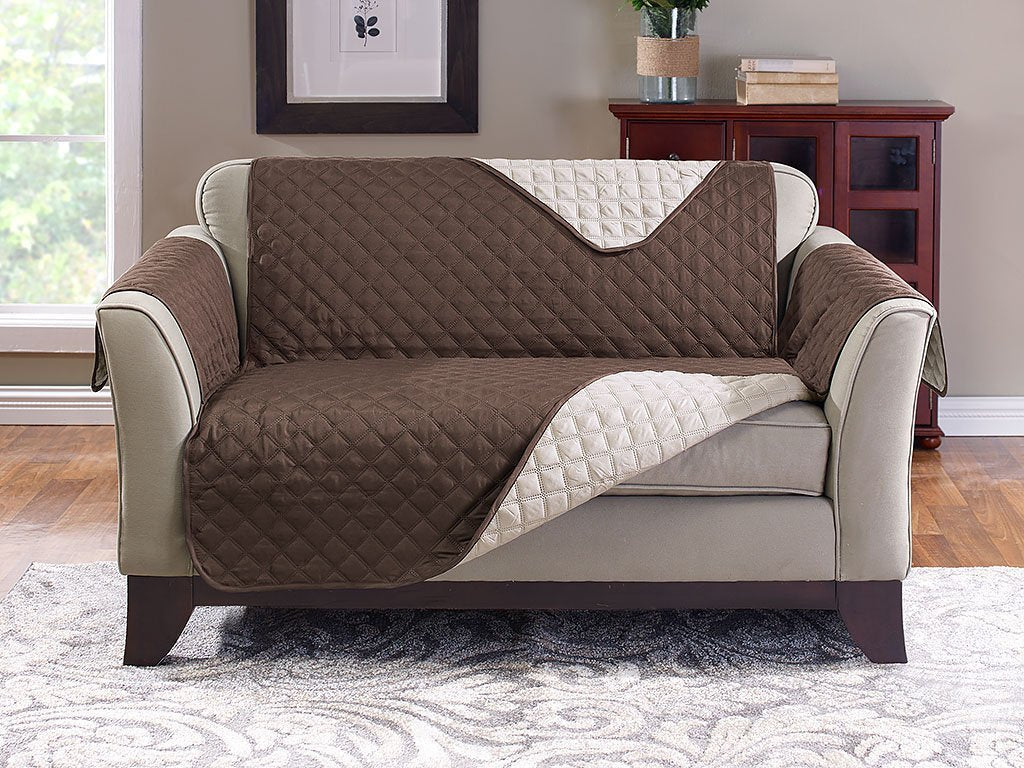 Amazing Reversible Loveseat Cover Protect From Pet Hair Spills Gmtry Best Dining Table And Chair Ideas Images Gmtryco