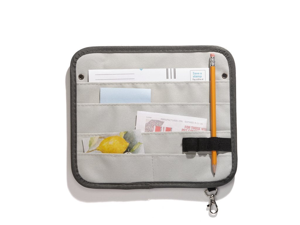 GREY Sort It Magnetic Fridge Organizer image from BulbHead