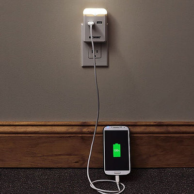 USB Outlet Plug W/Nightlight image from BulbHead