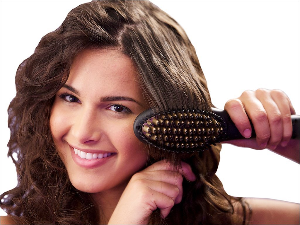 Viatek Salon Straight Electric Hair Brush image from BulbHead