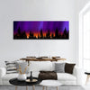 Northern lights Panoramic Canvas Wall Art
