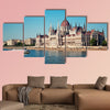 Hungarian Parliament and River Danube multi panel canvas wall art