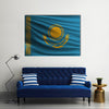 The national flag of Kazakhstan Multi Panel Canvas Wall Art