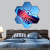 Wrist painful, skeleton x-ray hexagonal canvas wall art