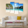 Most Beautiful moning in Maya bay Phi phi leh island multi panel canvas wall art