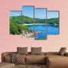 Bay and mountains Multi panel canvas wall art
