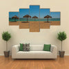 Umbrellas Cuba. Trinidad. Ancona Beach, Caribbean Sea on a tropical island Multi panel canvas wall art