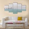 Kuwait's coastline and skyline Multi Panel Canvas Wall Art