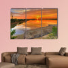 Brilliant sunrise across a river in Sundarban islands wall art