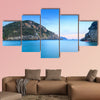 Island at dusk, Ionian archipelago, Greece Multi panel canvas wall art