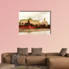 Moscow, Russia, Long Exposure view multi panel canvas wall art