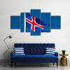 The icelandic flag with blue sky, Iceland Multi Panel Canvas Wall Art