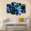 Waterfall in Virginia Water, Surrey, United Kingdom multi panel canvas wall art