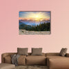 Majestic sunset in the mountains landscape. HDR image Multi panel canvas wall art
