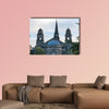The facade of The Parish Church of St Cuthbert in Edinburgh multi panel canvas wall art