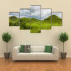 Rolling hills, lush green grass Republic of Congo, Central Africa Multi panel canvas wall art