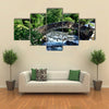 Roman Bridge located in the Ordino region of Andorra Multi panel canvas wall art
