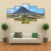 Aruba Mountain Past Homes Multi panel canvas wall art