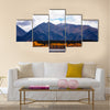 Cool September day in Twin Lakes, Colorado. Mount Elbert Forebay aspen reflections multi panel canvas wall art